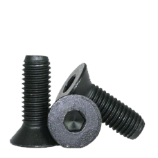 "#0-80 X 1/4"" FLAT SOCKET CAPS FINE ALLOY BLACK OXIDE"