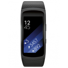 Samsung - Gear Fit2 Fitness Watch + Heart Rate (Large) – Black