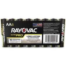 RAYOVAC ALKALINE, SIZE AA A- 8 PACK