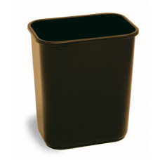 Commercial Rectangle Plastic Waste Basket 28 1/8 qt. Brown