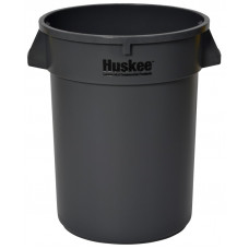 Huskee™ Round Receptacle 32 gal. Grey