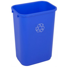 Commercial Rectangle Recycling Waste Basket 41 1/8 qt. Blue
