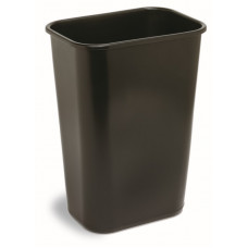 Commercial Rectangle Plastic Waste Basket 41 1/8 qt. Black