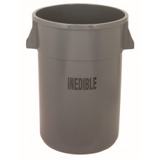 """Inedible"" Hukee™ Round Receptacle 44 gal."