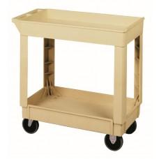 "Utility Cart 34 3/8"" x 17 1/2"" x 33"" Beige"