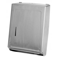 Combo Towel Cabinet Dispenser Silver