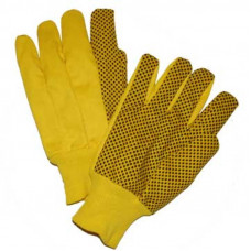 10 oz Hi-Vis Yellow Plastic Dot Canvas Glove (710KYWPD)