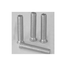 1/4-20 x 1 1/2 SELF CLINCH STUD (12 RIB) FULL THREAD HEAT TREAT ZINC & BAKE