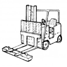 FORKLIFT MAGNETS (HEAVY DUTY - 120 LBS.), DIMENSIONS:7 MM2 X 6 X 72 INCHES