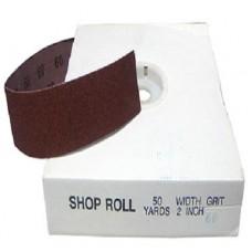 """1"""" x 50 YD Aluminum Oxide Shop Rolls Grit: 100"""
