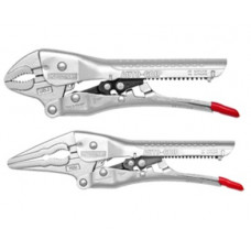 2 pc Combo Kit: 8 Inch AUTO-GRIP Curved Jaw Locking Plier, 10 Inch Groove Jaw Plier