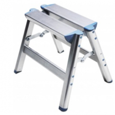 "FOLDING ALUMINUM STEP LADDER (Size:  15"" x 6.7"" x 11"")"