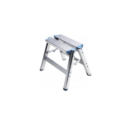 Peachy Folding Aluminum Step Ladder Size 15 X 6 7 X 11 Inzonedesignstudio Interior Chair Design Inzonedesignstudiocom