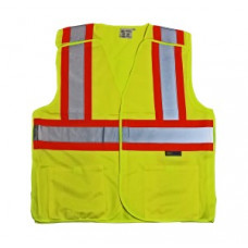 Proferred Yellow ANSI Class 2 Breakaway Reflective Safety Vest (L)