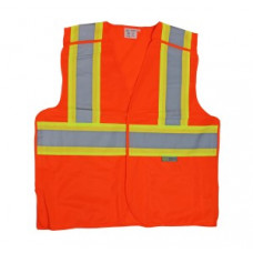 Proferred Orange ANSI Class 2 Breakaway Reflective Safety Vest (L)